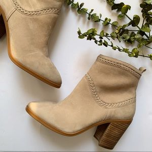 ALDO Suede Ankle Booties w/Braided Detail Size 10
